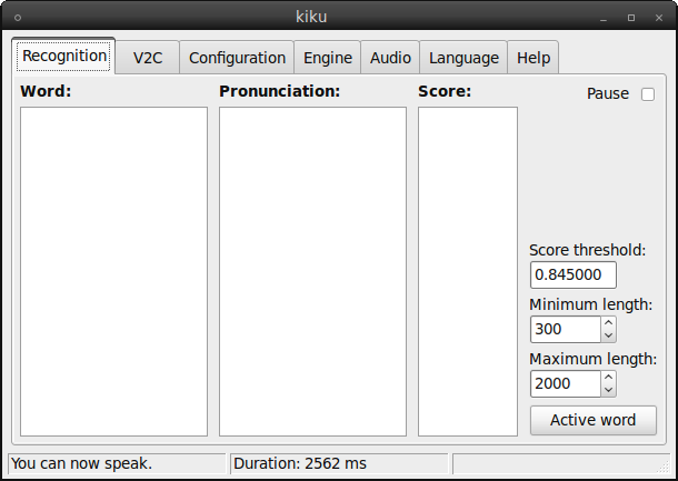 kiku speech recognition